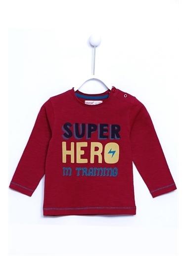 Silversun Kids Baskılı Uzun Kol Örme Tişört Bk 73344 Bordo